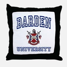 BARDEN University Throw Pillow