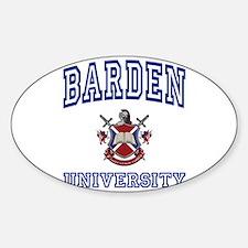 BARDEN University Oval Decal
