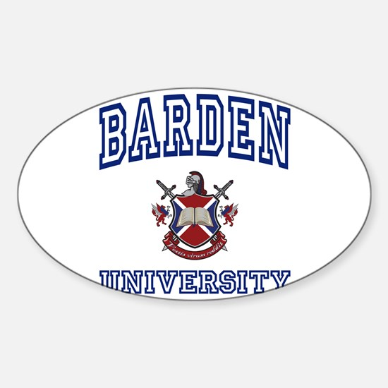 BARDEN University Oval Decal