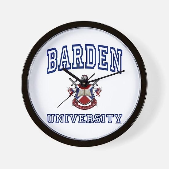BARDEN University Wall Clock