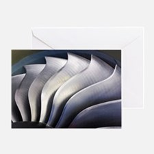 S-curve fan blades Greeting Card