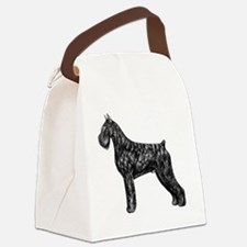 Giant Schnauzer Standing Profile Canvas Lunch Bag