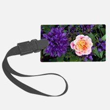 Rose flower and clustered bellfl Luggage Tag