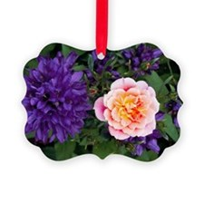 Rose flower and clustered bellflo Ornament