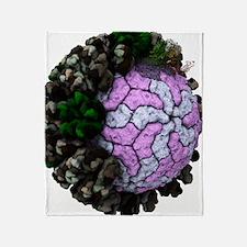 Rotavirus particle, artwork Throw Blanket