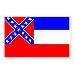 Mississippi Flag Rectangle Decal