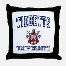 TIBBETTS University Throw Pillow