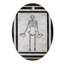 Roman memento mori mosaic Oval Ornament