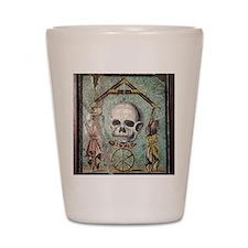 Roman memento mori mosaic Shot Glass