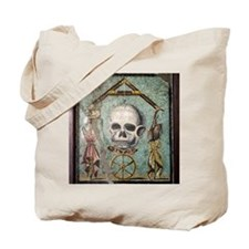 Roman memento mori mosaic Tote Bag