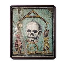 Roman memento mori mosaic Mousepad