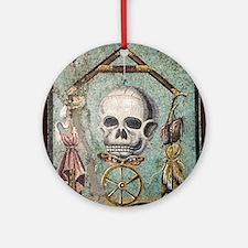 Roman memento mori mosaic Round Ornament