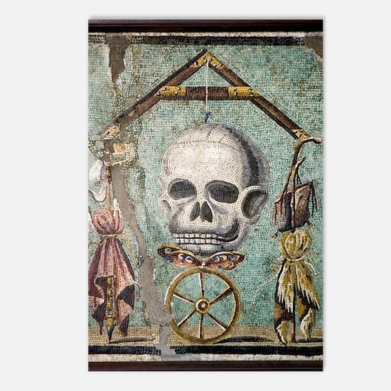 Roman memento mori mosaic Postcards (Package of 8)