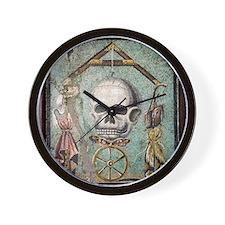 Roman memento mori mosaic Wall Clock