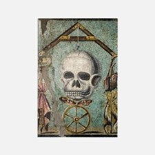 Roman memento mori mosaic Rectangle Magnet