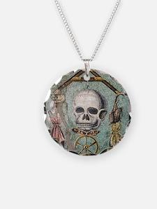 Roman memento mori mosaic Necklace