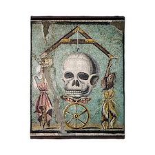 Roman memento mori mosaic Twin Duvet