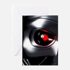 Robotic eye, artwork Greeting Card