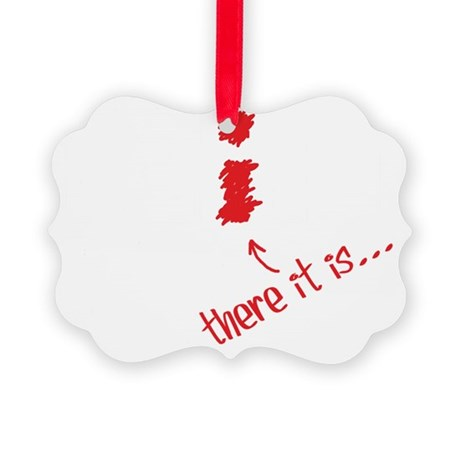 The I in Team Picture Ornament
