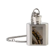 Roller bearings Flask Necklace