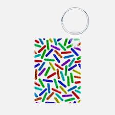 Rod-shaped bacteria Keychains