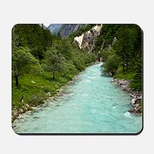 River Soca in Slovenia Mousepad