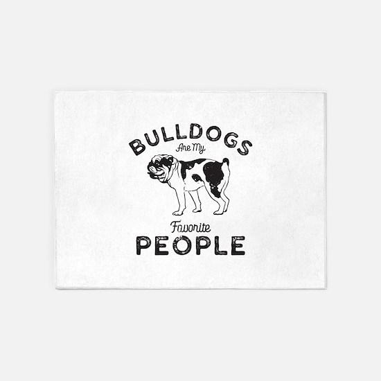 Bulldog People 5'x7'Area Rug