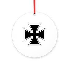 cross offset Round Ornament