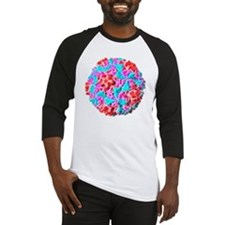 Rhinovirus particle, artwork Baseball Jersey