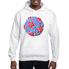 Rhinovirus particle, artwork Hoodie