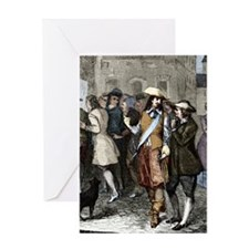 Rene Descartes and Isaac Beeckman Greeting Card