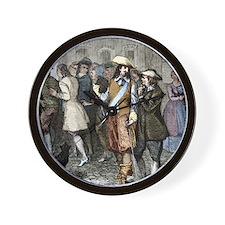 Rene Descartes and Isaac Beeckman Wall Clock