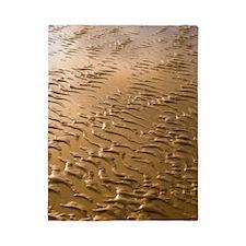 Rippled sand in regular pattern Twin Duvet