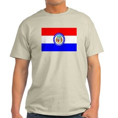 Missouri Flag Ash Grey T-Shirt