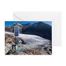 Rhone glacier, Switzerland Greeting Card
