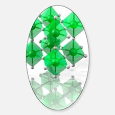 Rhenium trioxide crystal structure Sticker (Oval)