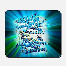 Rhodopsin protein molecule Mousepad