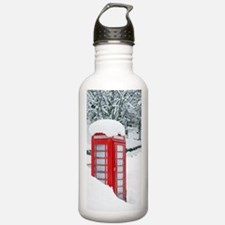 Red telephone box in h Water Bottle