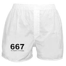 667 Neighbor of the Beast Boxer Shorts