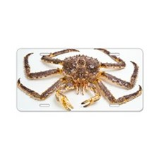 Red king crab Aluminum License Plate