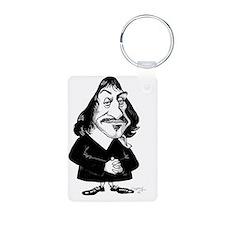 Rene Descartes, caricature Keychains