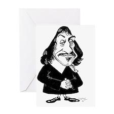 Rene Descartes, caricature Greeting Card