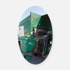 Refuse collection Oval Car Magnet
