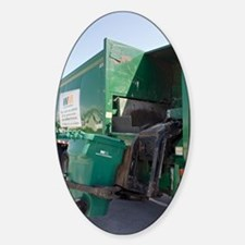 Refuse collection Sticker (Oval)