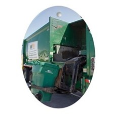 Refuse collection Oval Ornament