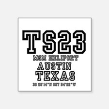 "TEXAS - AIRPORT CODES - TS2 Square Sticker 3"" x 3"""