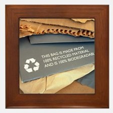 Recycled materials Framed Tile