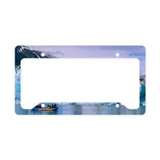 Rafting on Lowell lake, Canad License Plate Holder