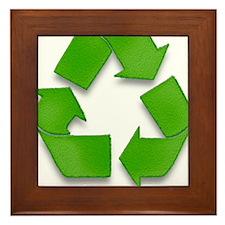 Recycling sign Framed Tile