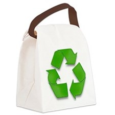 Recycling sign Canvas Lunch Bag